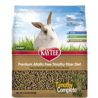 Kaytee Products Food Alfalfa Free Timothy Complete Rabbit Daily Diet Meal 4.5lbs