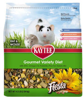 Kaytee Products Food Fiesta for Mouse and Pet Rats Gourmet Variety Diet 4 lbs