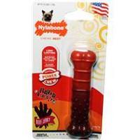 Nylabone Power Chew Textured Beef Jerky Flavor Wolf Bone for Dogs