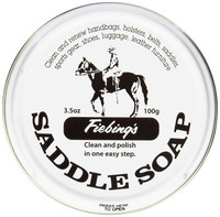Fiebing's Saddle Soap White 3.5 oz   Polish and Clean Leather   Revives Color