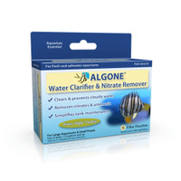 Algone Water Clarifier and Nitrate Remover for Aquariums | Treats 1200 Gallons