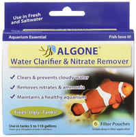 Algone Water Clarifier and Nitrate Remover for Aquariums   Treats 330 Gallons