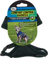 Four Paws Comfort Control Dog Harness Black Extra Small
