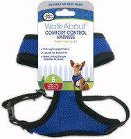 Four Paws Comfort Control Dog Harness Blue Small