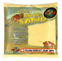 Zoo Med Hermit Crab Calcium Sand Substrate, 2 Pounds - Yellow