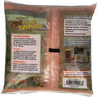 Zoo Med Hermit Crab Calcium Sand Substrate, 2 Pounds - Mauve Red