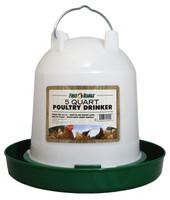 MannaPro Poultry Drinker 5 quart   Plastic Twist-Lock Chicken Waterer