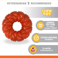 Nylabone Roll & Chase Natural Rubber Strong Chew Beef Flavor Toy for Dogs