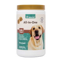 NaturVet ALL-IN-ONE Soft Chew Dogs Skin and Coat Joint Support (Jar) - 120 ct