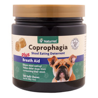 NaturVet COPROPHAGIA Soft Chew Bottle Dog Stool Eating Deterrent 130 count