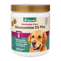 NaturVet GLUCOSAMINE - DS Plus MSM and Chondroitin Soft Chews for Dogs 120 COUNT
