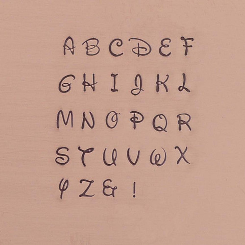 Antlia Uppercase Alphabet Stamp Set - 3mm
