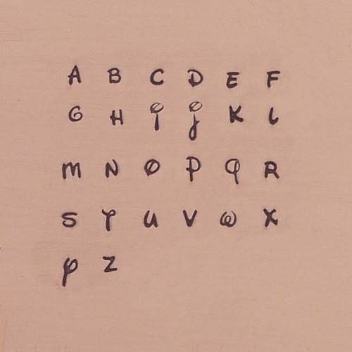 Antlia Combo 3mm Uppercase/2.5mm Lowercase Alphabet Stamp Sets