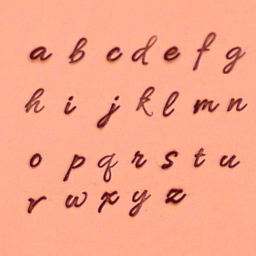 Monoceros 2.50mm Lowercase Alphabet Set
