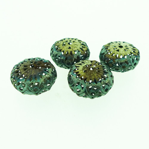 "Metal Filigree Beads - ""Brocade"""