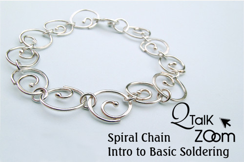 Spiral Chain - Intro to Basic Soldering - QT Zoom