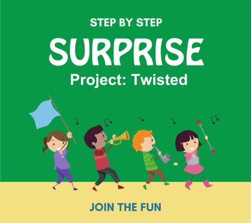 Step by Step Surprise Project 14: Twisted- QT LIVE