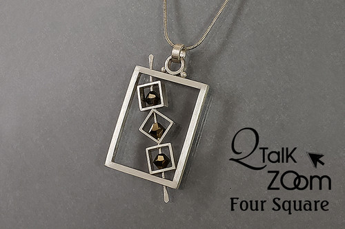 Four Square Pendant  - QT Zoom