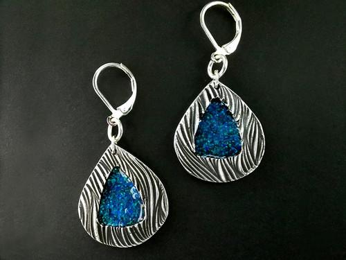 16-4PA Inlaid Opal Earrings
