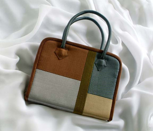 Brown Patch Tool Tote