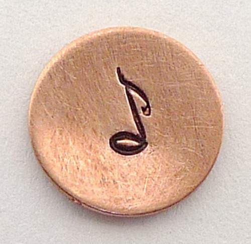 Musical Note Stamp Sample