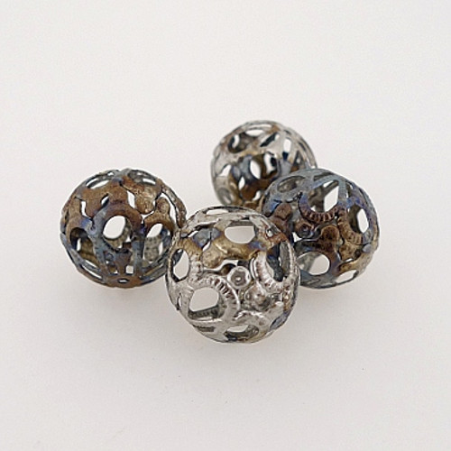 "Metal Filigree Beads - ""Tapestry"""