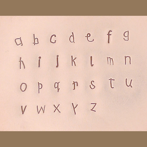 Kids First Print Lowercase 3mm Stamp Set Sample