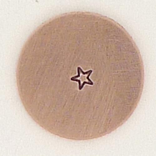 Tiny 1.5mm Star Metal Stamp Sample