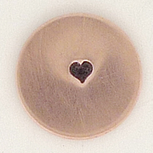 Tiny 1.5mm Solid Heart Metal Stamp Sample