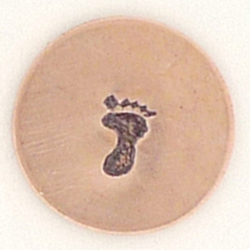 Right Baby Footprint Metal Stamp Sample