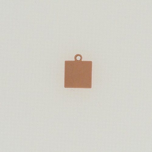 Copper Square Tag with Ring