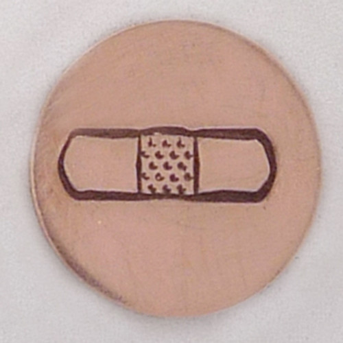Bandage Metal Stamp Sample