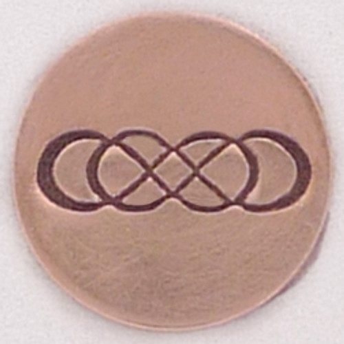 Double infinity metal Stamp sample