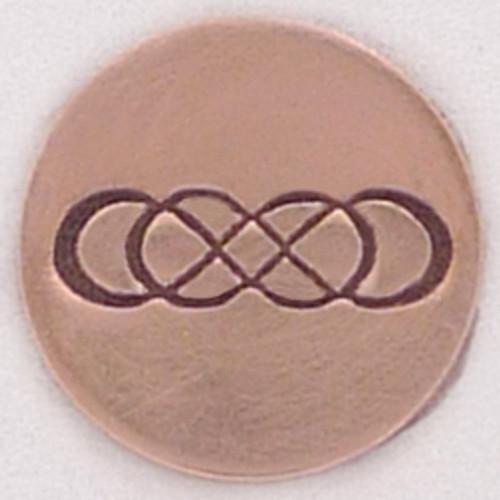 Double infinity metal Stamp sample