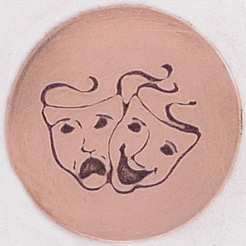 Comedy Tragedy Metal Stamp Sample