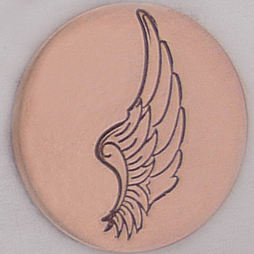 Right Angel Wing Metal Stamp Sample