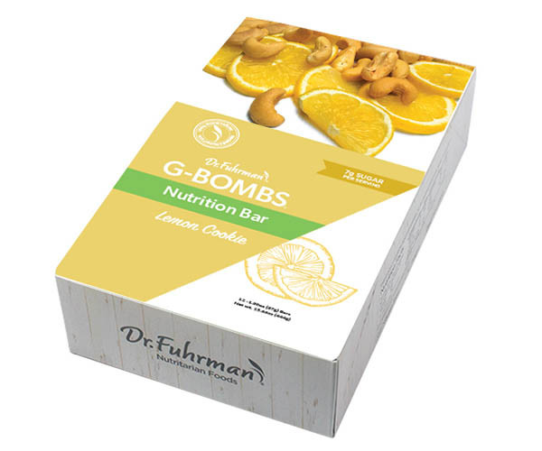 G-BOMBS Nutrition Bar — Lemon Cookie
