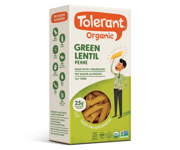 Tolerant Organic Green Lentil Penne Pasta (6-pack)