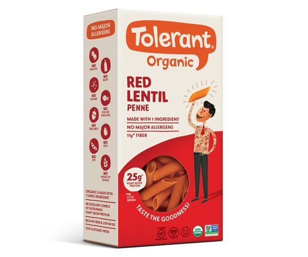 Tolerant Organic Red Lentil Penne Pasta (6-pack)