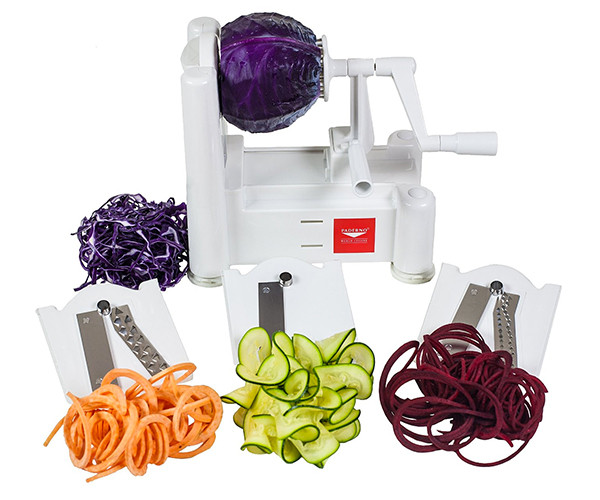 Paderno World Cuisine Tri-Blade Plastic Spiral Vegetable Slicer