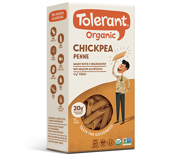 Tolerant Organic Chickpea Penne Pasta (6-Pack)