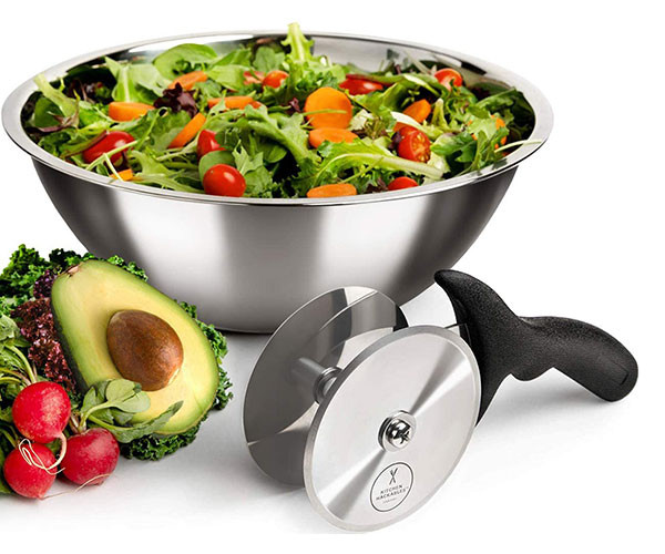 Stainless Steel Salad Chopper Blade and Bowl