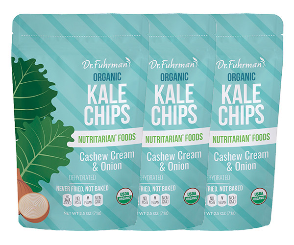Organic Kale Chips - Cashew Cream & Onion