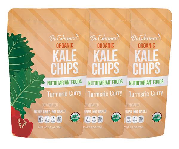 Organic Kale Chips - Turmeric Curry