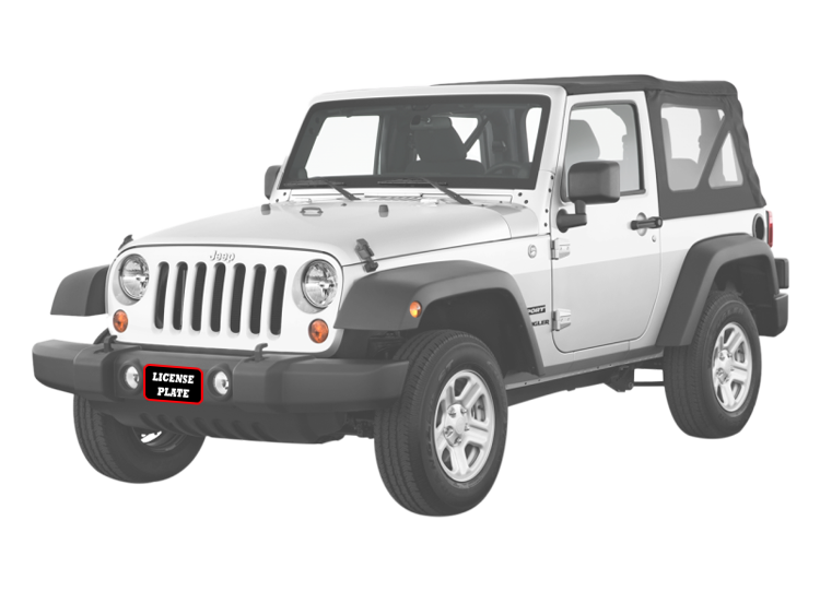 STO N SHO Front License Plate Bracket for 2018-2020 Jeep Wrangler JL and 2020 Gladiator Rubicon with Metal Bumper
