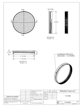 110-400 lid - engineering drawing