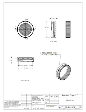 38-400HW lid - engineering drawing