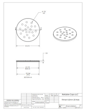63mm Sifter Fitment - 20 Hole (Case Count: 3,500)