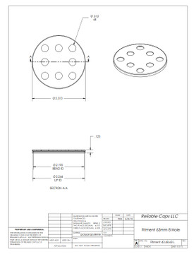 63mm Sifter Fitment - 8 Hole (Case Count: 3,500)