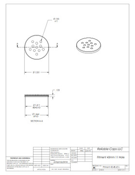 43mm Sifter Fitment - 11 Hole (Case Count: 8,400)